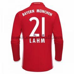 Billige Fotballdrakter Bayern Munich 2016-17 Lahm 21 Hjemme Draktsett Langermet