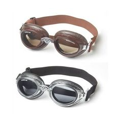 Doggles Sidecar dog googles are stylish protective eyewear for your dog. One adjustable size fits dogs 15 to 150 lbs!