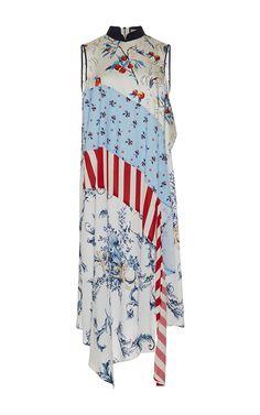 Sleeveless Cheongsam Styled Asymmetrical Dress by ANTONIO MARRAS for Preorder on Moda Operandi
