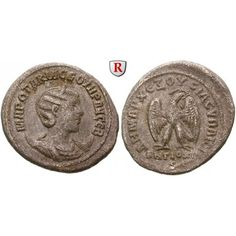 Römische Provinzialprägungen, Seleukis und Pieria, Antiocheia am Orontes, Otacilia Severa, Frau Philippus I., Tetradrachme 248, s-ss #coins