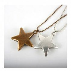 $1.69 Concise and Cute Bronze Star Pendant Necklace