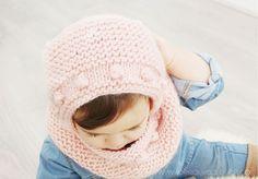 Capota de bebé a punto bobo – Tutorial y Patrón –