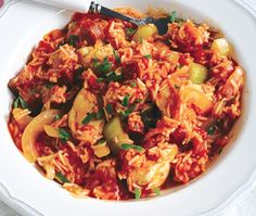 Tuck into a hearty meal such as Asda's delicious recipe for chicken, onion & rice jambalaya