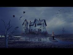 Haunted house photo manipulation | photoshop tutorial cc - YouTube