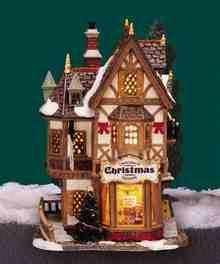 Lemax Village Collection Tannenbaum Christmas Shoppe # 35845 for sale online Village Lemax, Christmas Village Display, Christmas Village Houses, Halloween Village, Christmas Town, Christmas Villages, Christmas Star, Christmas Decorations, Christmas Mantles