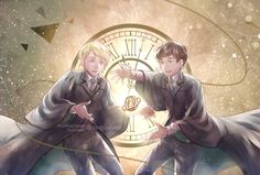 Scorpius and Albus Harry Potter Cursed Child, Mundo Harry Potter, Harry Potter Spells, Harry Potter Drawings, Harry Potter Anime, Harry Potter Fan Art, Harry Potter Universal, Harry Potter Fandom, Harry Potter World