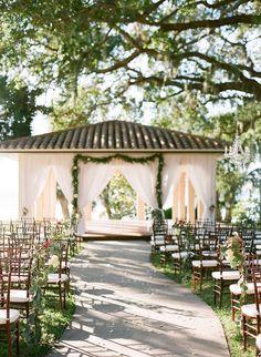pretty outdoor wedding ceremony idea; photo: Justin DeMutiis