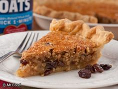 Oatmeal Cookie Pie.  This is so easy!  This would be a pie my hubby would love!!  I think I'll try this one for fall. :-)