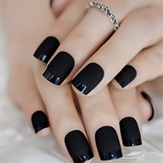 #blackfrenchnailshowto These 17 French nails are anything but traditional but they still stay true to its roots. #blackfrenchnailsimages#blacknailsfrenchtips	 #blackfrenchmanicurenails	 #blackmattefrenchnails#blackfrenchombrenails	 #blackfrenchcoffinnails#blackfrenchnailart	 #blackfrenchacrylicnails	 #blackfrenchalmondnails	 #blackfrenchtipnailart#blackfrenchtipacrylicnails	 #blackfrenchtipalmondnails#blackfrenchtipacrylicnaildesigns	 #frenchnailsblackandwhite	 #blackandsilverfrenchnails Black French Nails, Black Acrylic Nails, Matte Black Nails, Ombre French, Dark Nail Art, Black Ombre Nails, Black Nail Polish, Fake Nails With Glue, Glue On Nails