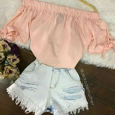 Pin on My style Girly Outfits, Cute Summer Outfits, Outfits For Teens, New Outfits, Stylish Outfits, Cool Outfits, Cute Fashion, Teen Fashion, Womens Fashion