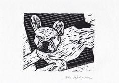 Bouledogue Philippe Achermann Gravure sur bois Street Art, Philippe, Art Graphique, Artwork, Contemporary Photography, Old Photography, Etchings, Prints, Woodcut Art
