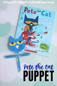Pete the Cat Puppet - Kid Craft
