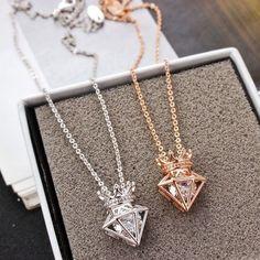 Diamond Pendant Necklace, Diy Necklace, Fashion Necklace, Diamond Jewelry, Gold Jewelry, Jewelry Necklaces, Fashion Jewelry, Diamond Necklaces, Diamond Rings