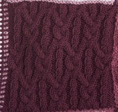 Knotted Lattice Square #free #knit #knitting #pattern #motif #square #freepattern #freeknittingpattern