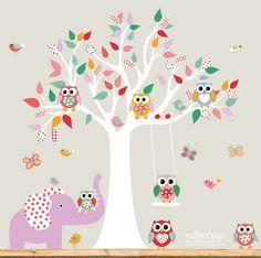 Children Wall decals Nursery Wall Decals Tree by wallartdesign