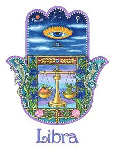 """Libra page from calendar """"The Year of Good Luck"""" Virgo, Astrology Zodiac, Zodiac Signs, 2019 Calendar, Hamsa Art, Sun Sign, My Notebook, Good Luck, Capricorn"""