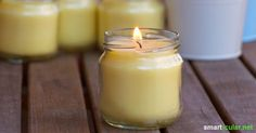 Mit diesen Kerzen machen Mücken einen weiten Bogen um deine Grillparty. Einfach, preiswert und nachhaltig - als Behältnis eignet sich nahezu jedes Schraubglas!