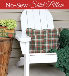 Easy to follow instructions for making DIY no-sew pillows from shirts - quick and simple  - via houseofhawthornes.com