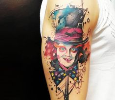 Mad Hatter tattoo by Marco Pepe
