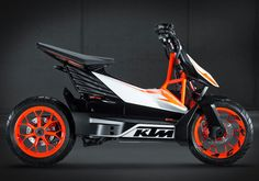 KTM has announced plans to produce the Speed scooter concept it showed at Tokyo this year as the E-SPEED. Based on the FREERIDE E electric drivetrain, the production version of the E-SPEED is expec… Scooter Motorcycle, E Scooter, Scooter Design, Bike Design, Bmw I3, Scooter Price, Electric Dirt Bike, Electric Cars, Ktm Motorcycles