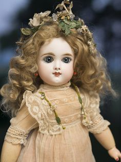 "15 1/2"" (40 cm) Very Beautiful Rare Smiling EDEN BEBE Doll Angelic Face"