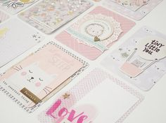Project Life Card Set Crate Paper 'Little by GlitterartzyCrafts