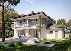 Projekt domu Korso 2 175,94 m² - koszt budowy - EXTRADOM Beautiful House Plans, Beautiful Homes, Style At Home, Drummond House Plans, Kitchen Room Design, Architect House, Design Case, House Rooms, Home Fashion