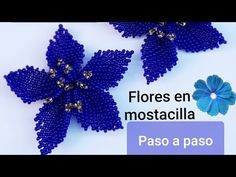 ⭕FLOR EN MOSTACILLA/Aretes en mostacilla - YouTube Beaded Chocker, Beaded Brooch, Bead Embroidery Tutorial, Beaded Embroidery, Beading Tutorials, Beading Patterns, Flower Video, Beaded Jewelry Designs, Beaded Crafts