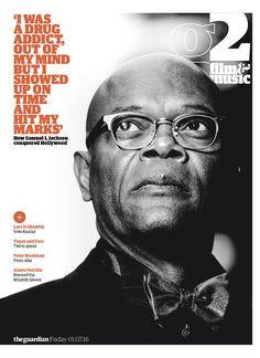 Guardian g2 film&music cover: Samuel L Jackson