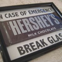 Emergency Chocolate, Christmas Gift, Gift for Teacher, Chocolate Lovers, Funny Gifts, Picture Frame Gifts-