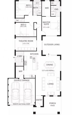 Cottesloe Beach, Single Storey Home Design Foundation Floor Plan, WA