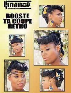 bykinanoe   Tutos et idées coiffure Boucles d'oreilles & Accessoires pour cheveux en wax : noeud, headband Créations Kinanoé Coupe banane rétro pin-up