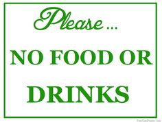image regarding No Food or Drink Signs Printable named 20 Great Not Permitted Signs or symptoms visuals within just 2014 Nameless, Doorway