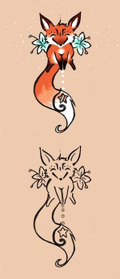 fox tattoo. might get it uncolored