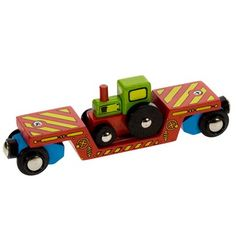 Buy a Tractor Low Loader Carriage (Bigjigs Rail BJT413) from Mulberry Bush, the online toy shop for traditional and wooden children's toys and games.
