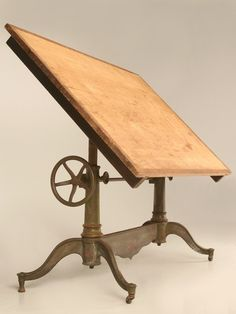 Antique American Drafting or Drawing Table by Columbia