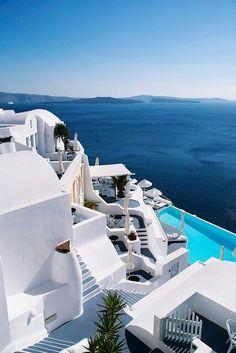 Katikies hotel in Oia, Santorini, Greece