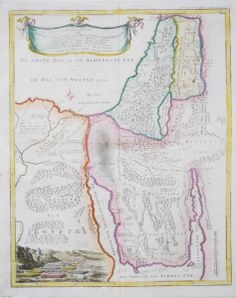 -Rare Old Antique map of the Holy Land / Virtual Rare Map Fair