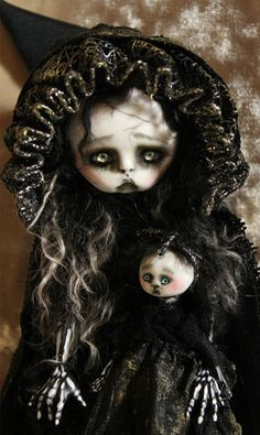 OOAK Gothic Fairy Tale Holiday Ghost Yet to Come Posable Art Doll A Gibbons DMA | eBay