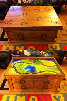 Western Coffee Table that converts to kids Train Table.
