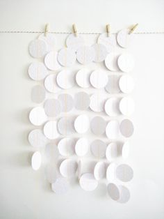 White paper garland...also would be cute in blue