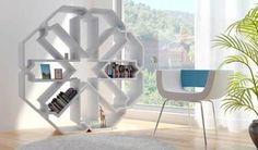 modern arabesque design made into a book shelf.