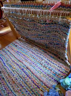 I must! make this giant peg loom to make this giant rug!