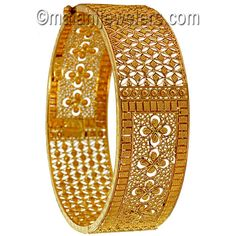 Gold Delightful Openable Pair Of Kara | Malani Jewelers Online Store