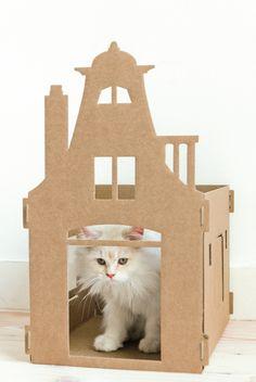 Nieuw van KEK Amsterdam: Kattenpandjes van Karton - Cute Cottage