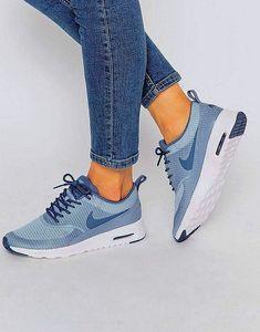 buy popular a1575 072f3 Adidas Women Shoes - MOLTO CARINE € ASOS Nike - Air Max Thea - Scarpe da  ginnastica testurizzate blu e grigio Nike Blue Grey Air Max Thea Textured  Trainers ...
