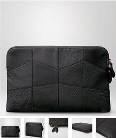 100% genuine leathe  Black Clutch by Claude Laurent