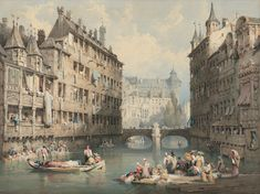SAMUEL PROUT, O.W.S. (PLYMOUTH 1783-1852 LONDON) Victorian London, Old Master, Plymouth, Drawings, Painting, Watercolor, Art, Pen And Wash, Art Background