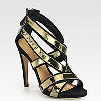 Aperlai - St. Tropez Suede & Metallic Leather Sandals - Saks Fifth Avenue Mobile