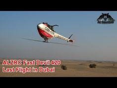 ALZRC Fast Devil 420 Electric RC 3D Helicopter Last Flight in Dubai